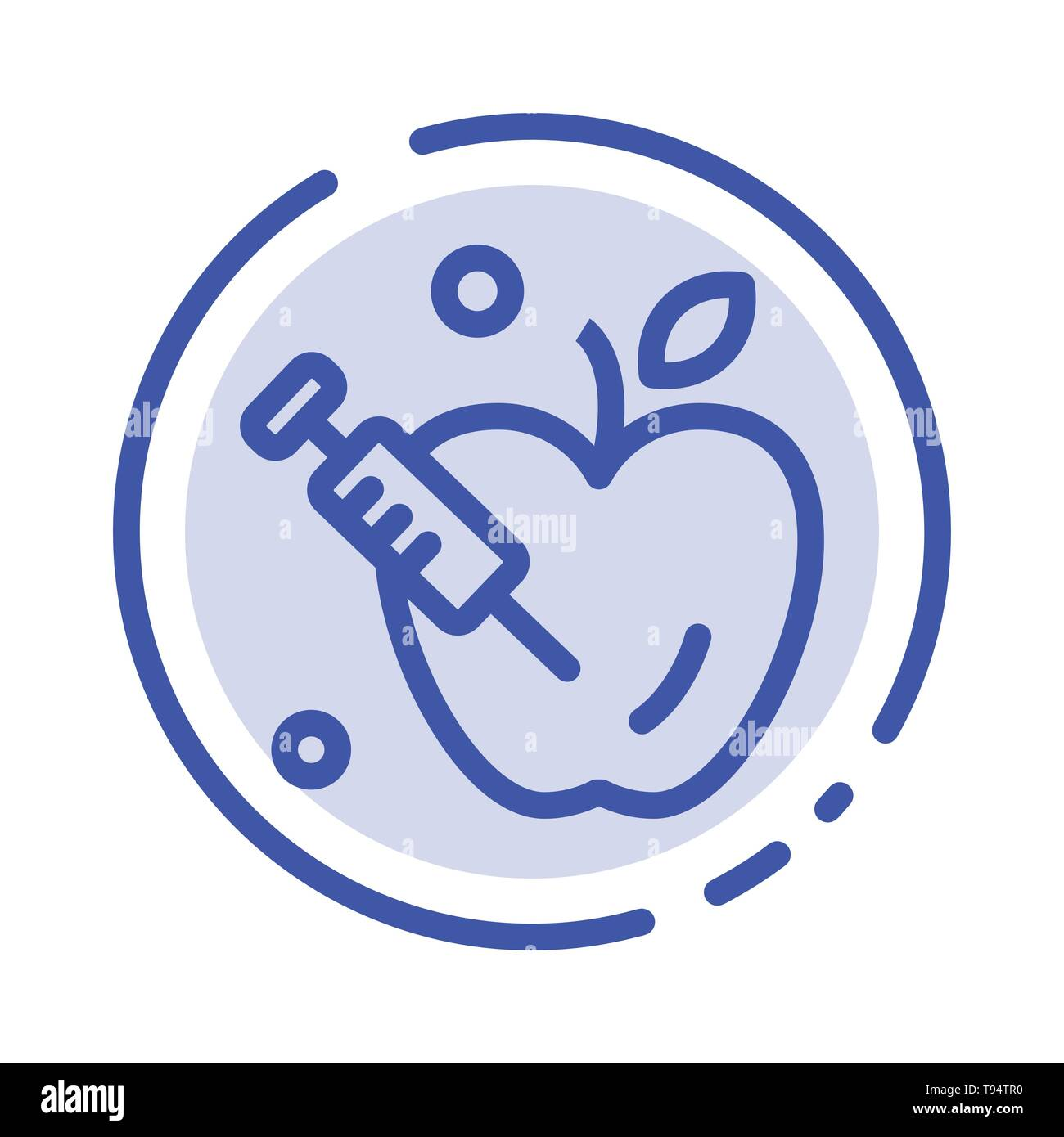 Apple, Gravity, Science Blue Dotted Line Line Icon - Stock Vector