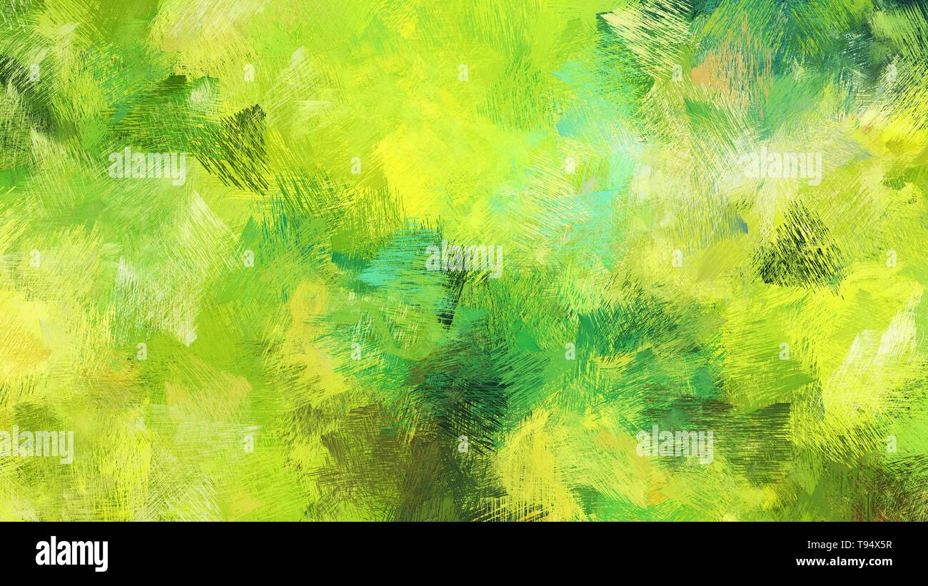 Green Yellow Yellow Green And Forest Green Color Painted