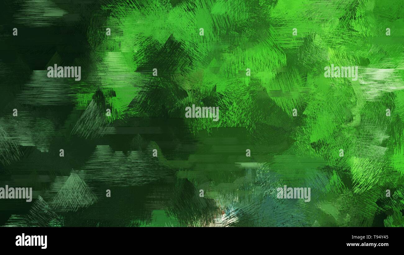 Very Dark Green Moderate Green And Forest Green Color Grunge