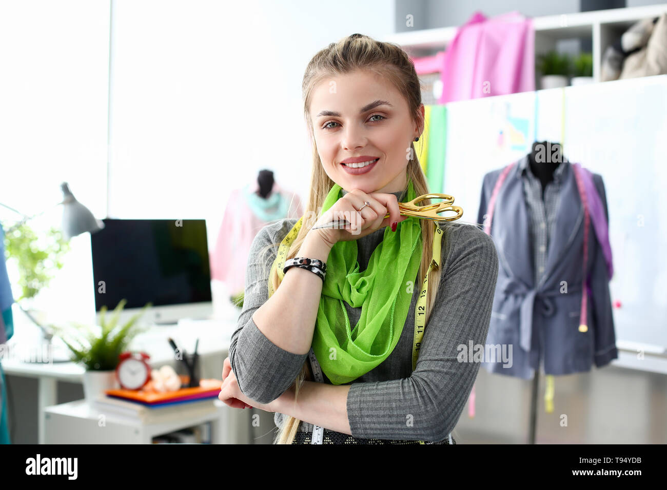 Tailoing Business Concept Fashion Needling Service - Stock Image