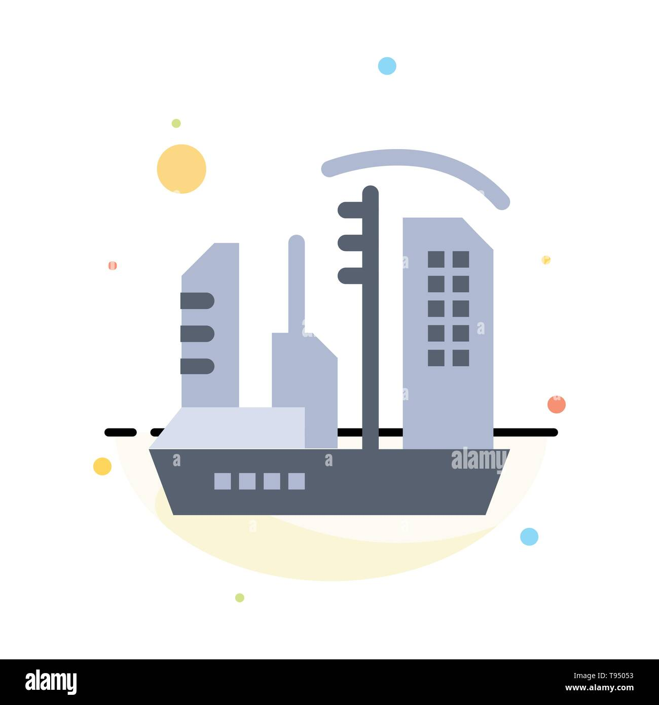 City, Colonization, Colony, Dome, Expansion Abstract Flat Color Icon Template Stock Vector