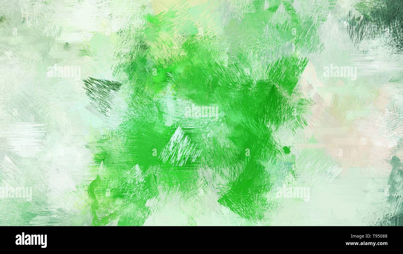 Dirty Brush Strokes Background With Tea Green Lime Green
