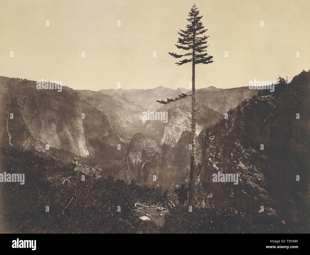Yosemite Valley, from the Mariposa Trail. Mariposa County, California. C.L. Weed (American, 1824 - 1903); negative 1864; print 1864 - 1872. Albumen silver print. - Stock Image