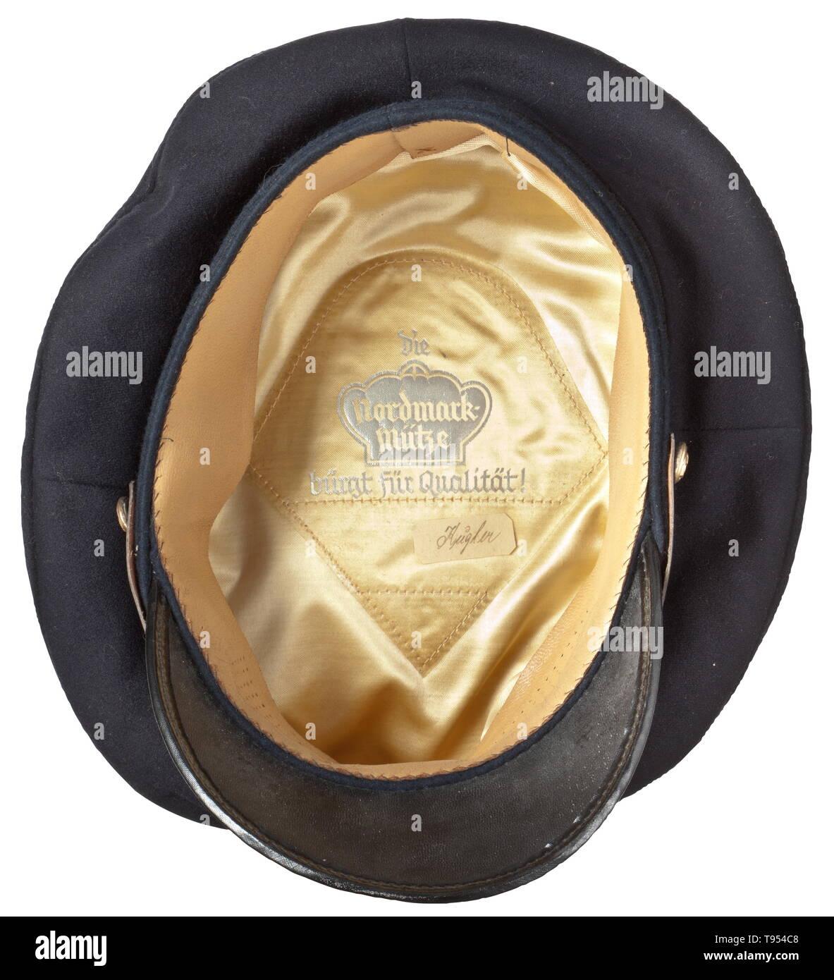 A visor cap for subaltern officers in the Kriegsmarine Navy