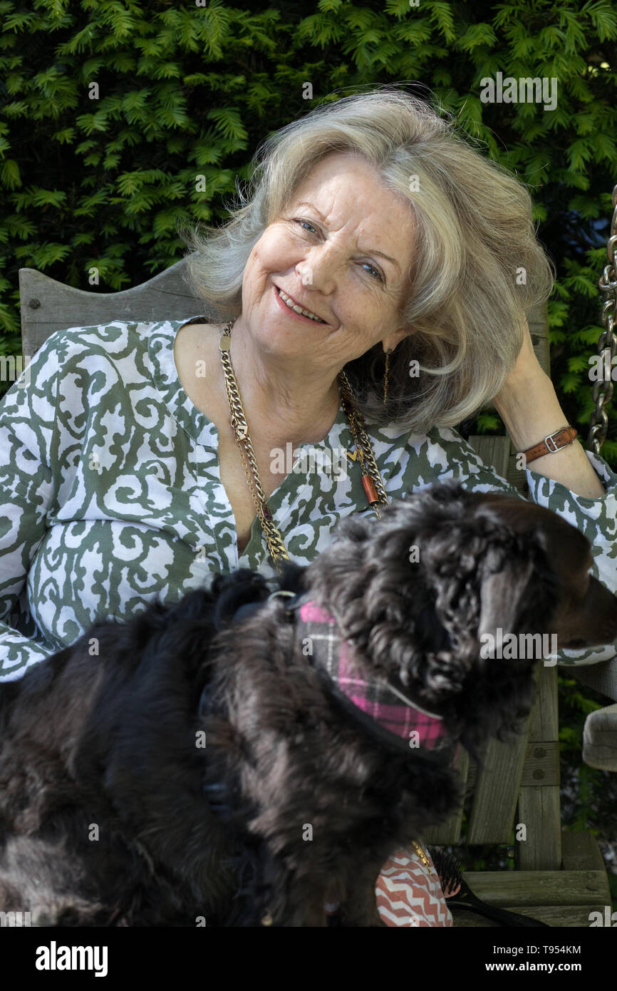 Polly Devlin OBE, Writer and Broadcaster at her home in West London. Born 1944 in Northern Ireland. - Stock Image