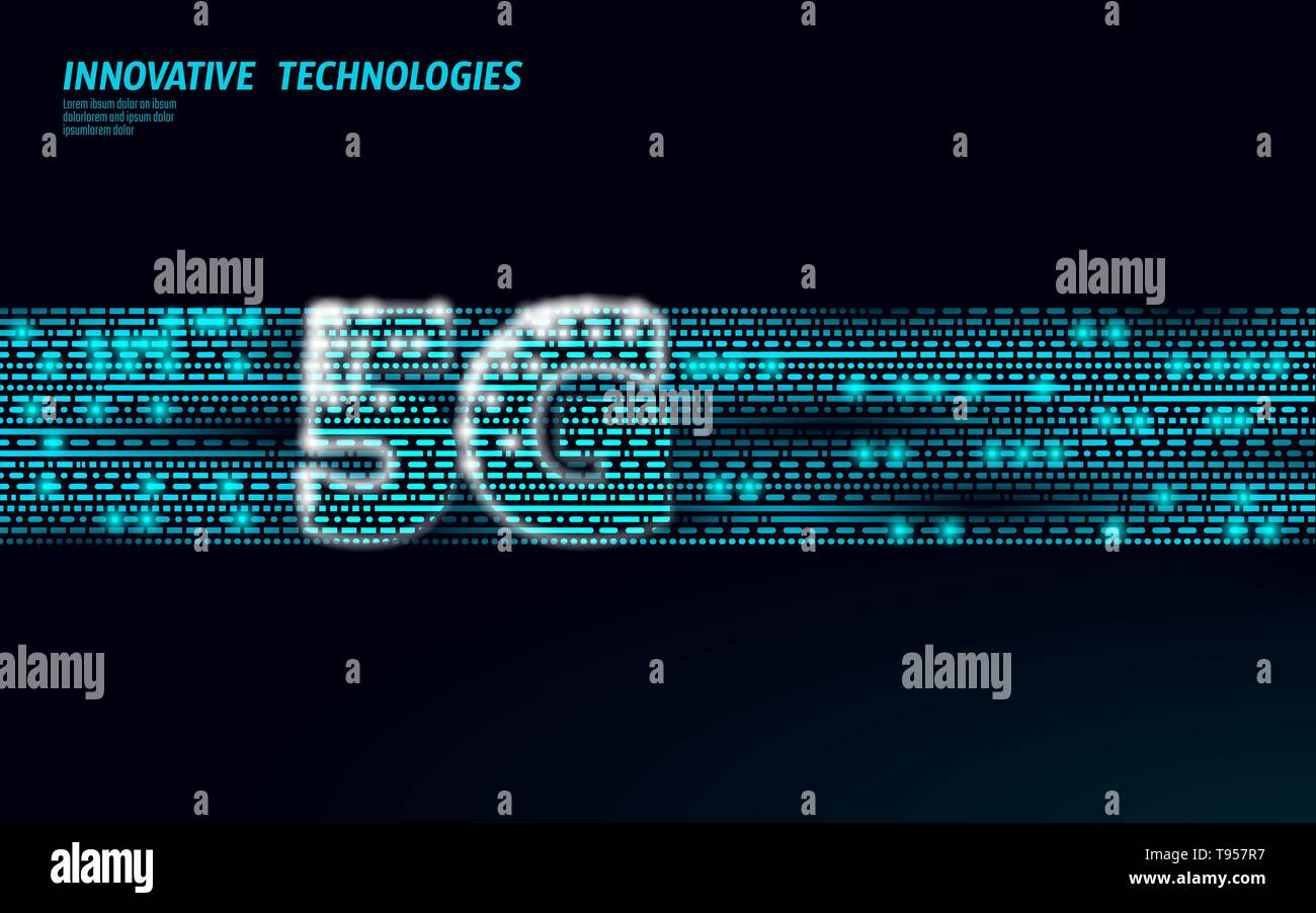 5G data flow high speed internet web telecommunication tower global connection information transmitter. Mobile radio antenna cellular vector - Stock Image