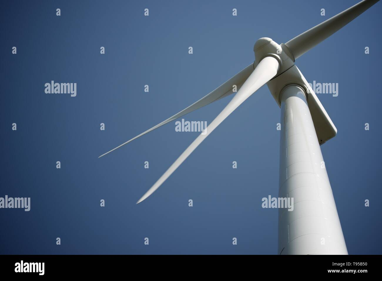 Windmill for electric power production, Soria Province, Castilla Leon, Spain. - Stock Image