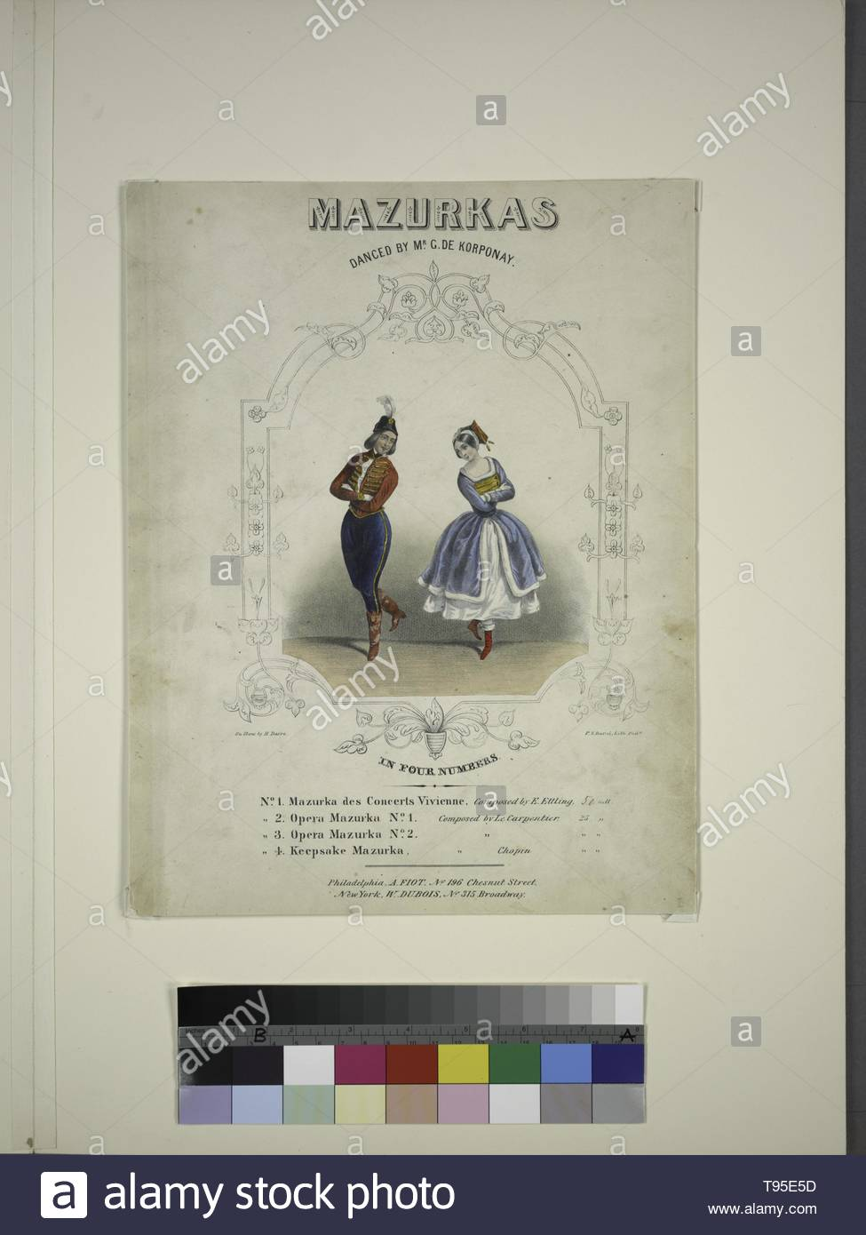 Anonymous-Mazurkas danced by Mr  G  De Korponay    [Lithograph] on stone by H  Dacre  P  S  Duval, Lith  Phila - Stock Image
