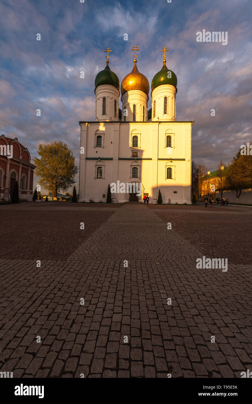 Kolomna, Russia, View of the Cathedral Square in the old Kolomna Kremlin, landmark Stock Photo