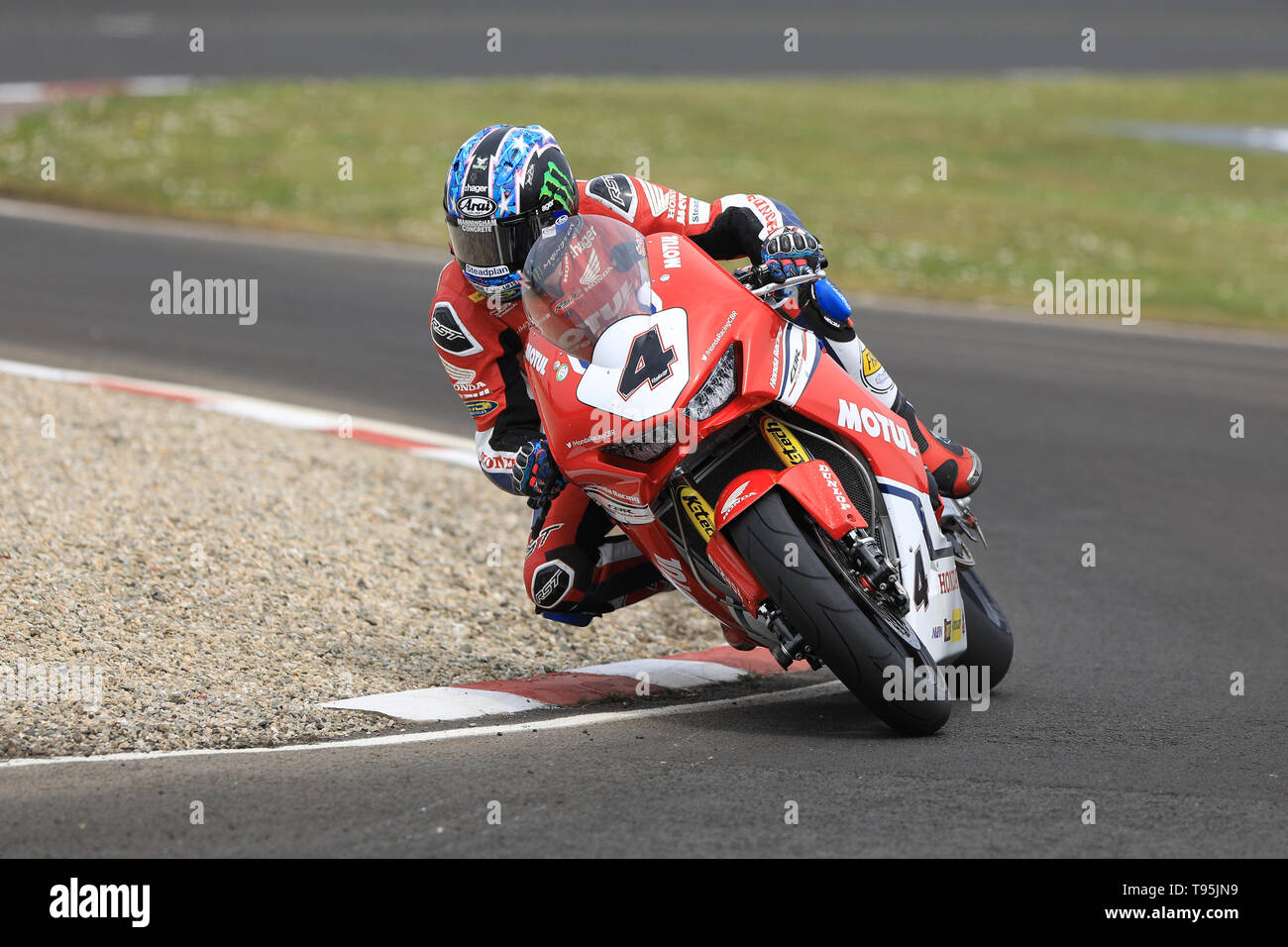 Portrush, Northern Ireland. 16th May, 2019. International North West 200 Motorcycle road racing, Thursday practice and evening racing; Ian Hutchinson on the Honda Racing Fireblade during the SuperBike qualifying session Credit: Action Plus Sports/Alamy Live News - Stock Image