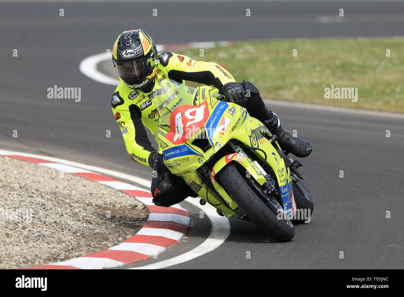 Portrush, Northern Ireland. 16th May, 2019. International North West 200 Motorcycle road racing, Thursday practice and evening racing; Spain's Raul Torras Martinez on the Raul Torras Kawasaki during the SuperBike qualifying session Credit: Action Plus Sports/Alamy Live News - Stock Image