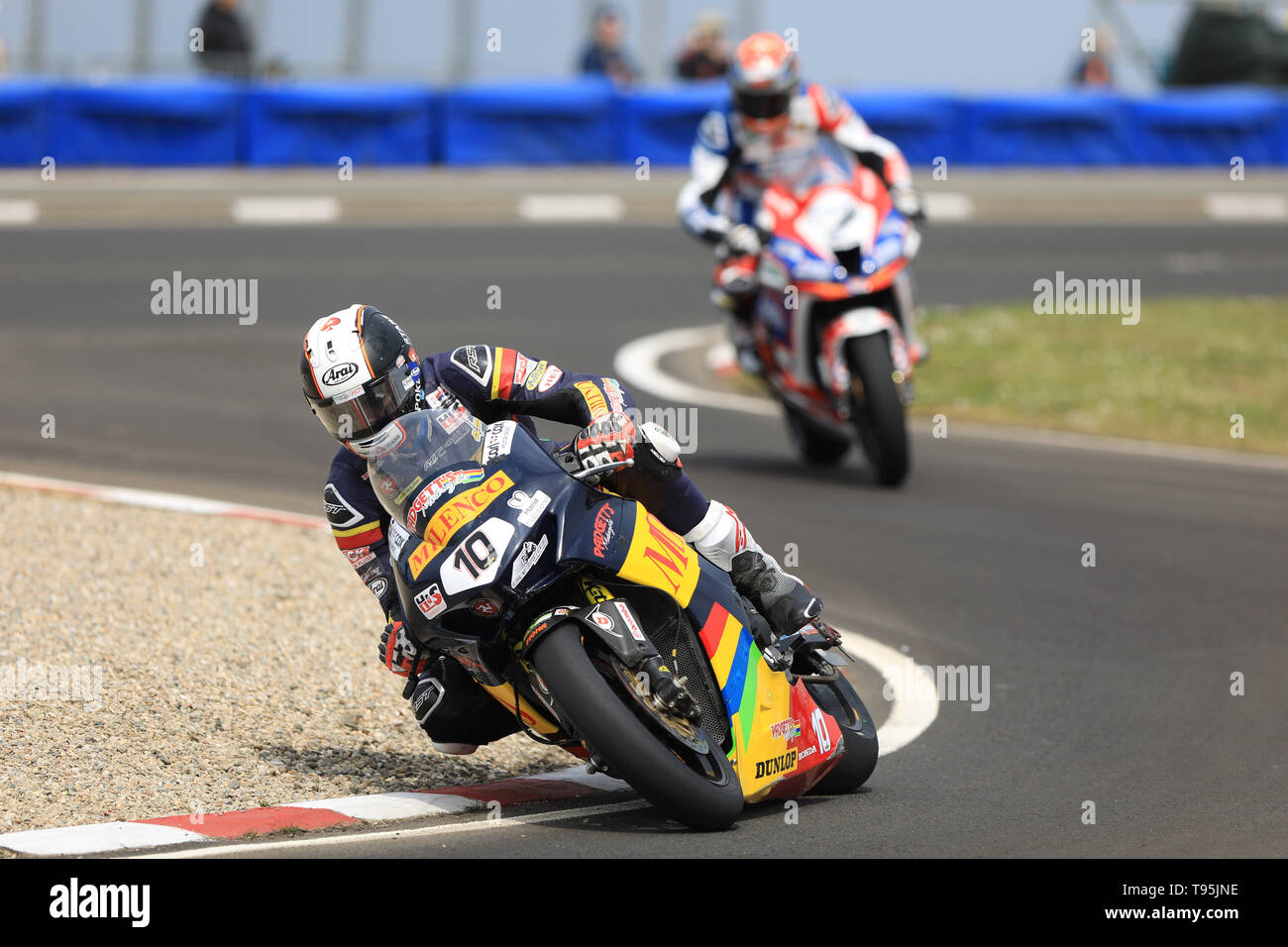 Portrush, Northern Ireland. 16th May, 2019. International North West 200 Motorcycle road racing, Thursday practice and evening racing; Coner Cummins on the MILENCO by Padgett's Motorcycles Honda during the SuperBike qualifying session Credit: Action Plus Sports/Alamy Live News - Stock Image