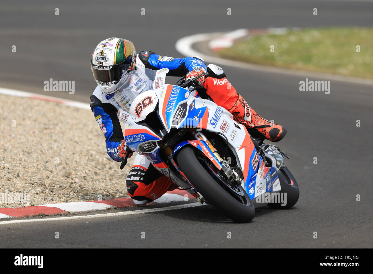 Portrush, Northern Ireland. 16th May, 2019. International North West 200 Motorcycle road racing, Thursday practice and evening racing; Peter Hickman on the Smiths Racing BMW during the SuperBike qualifying session Credit: Action Plus Sports/Alamy Live News - Stock Image