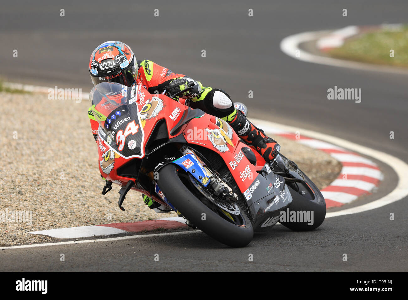 Portrush, Northern Ireland. 16th May, 2019. International North West 200 Motorcycle road racing, Thursday practice and evening racing; Alastair Seeley on the PBM Motorsport Ducati during the SuperBike qualifying session Credit: Action Plus Sports/Alamy Live News - Stock Image
