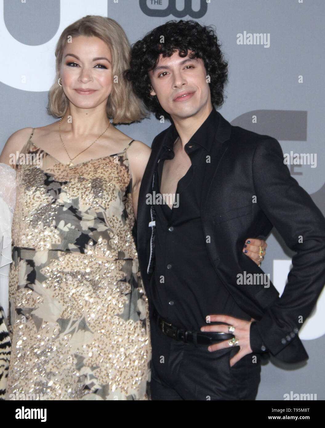 New York, USA. 16th May 2019. Julia Chan, Johnny Beauchamp attend 2019 The CW Upfront New York City Center in New York New York, USA. 16th May 2019. Credit:RW/MediaPunch Credit: MediaPunch Inc/Alamy Live News - Stock Image