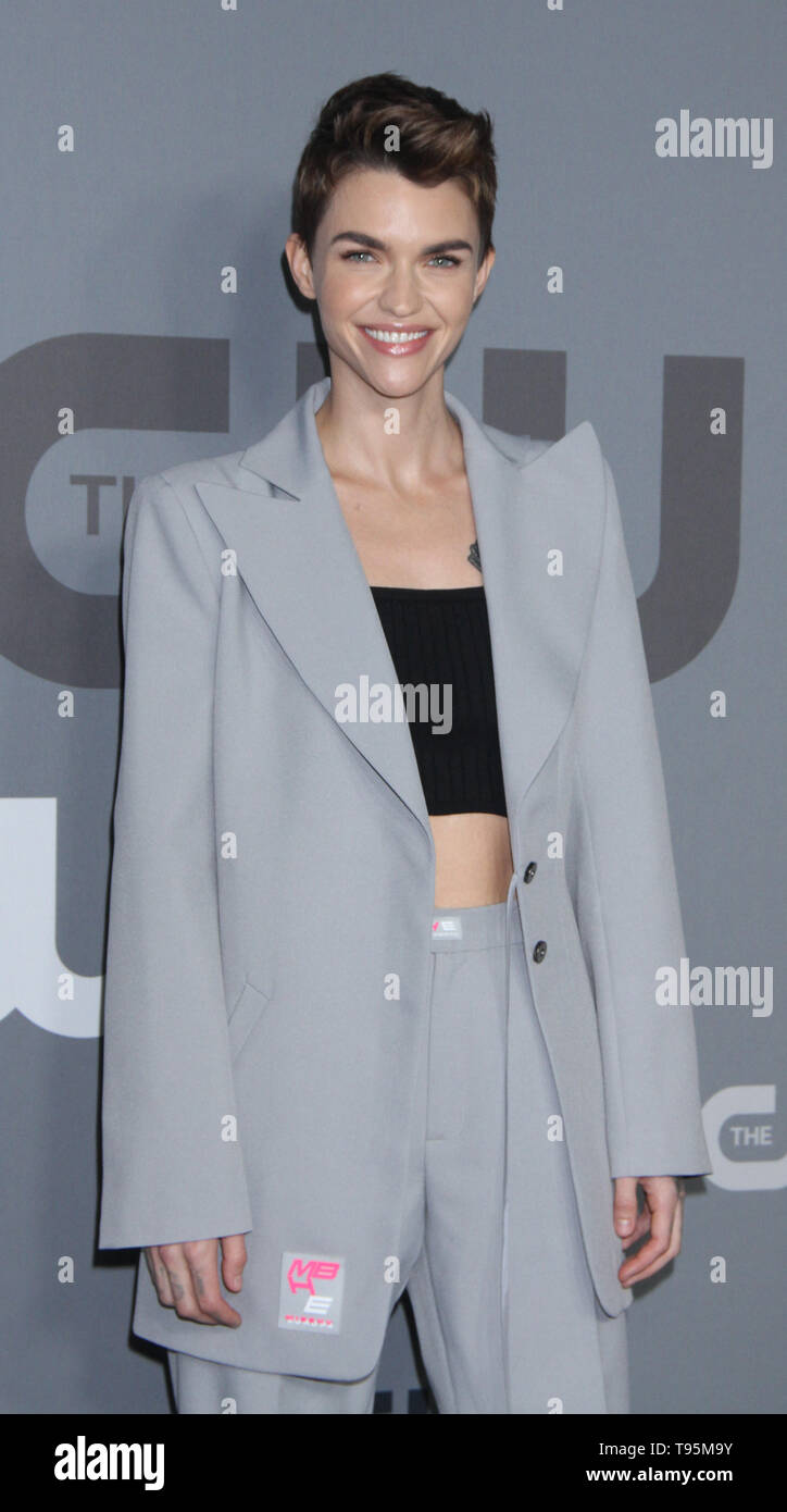 New York, USA. 16th May 2019. Ruby Rose attend 2019 The CW Upfront New York City Center in New York New York, USA. 16th May 2019. Credit:RW/MediaPunch Credit: MediaPunch Inc/Alamy Live News - Stock Image