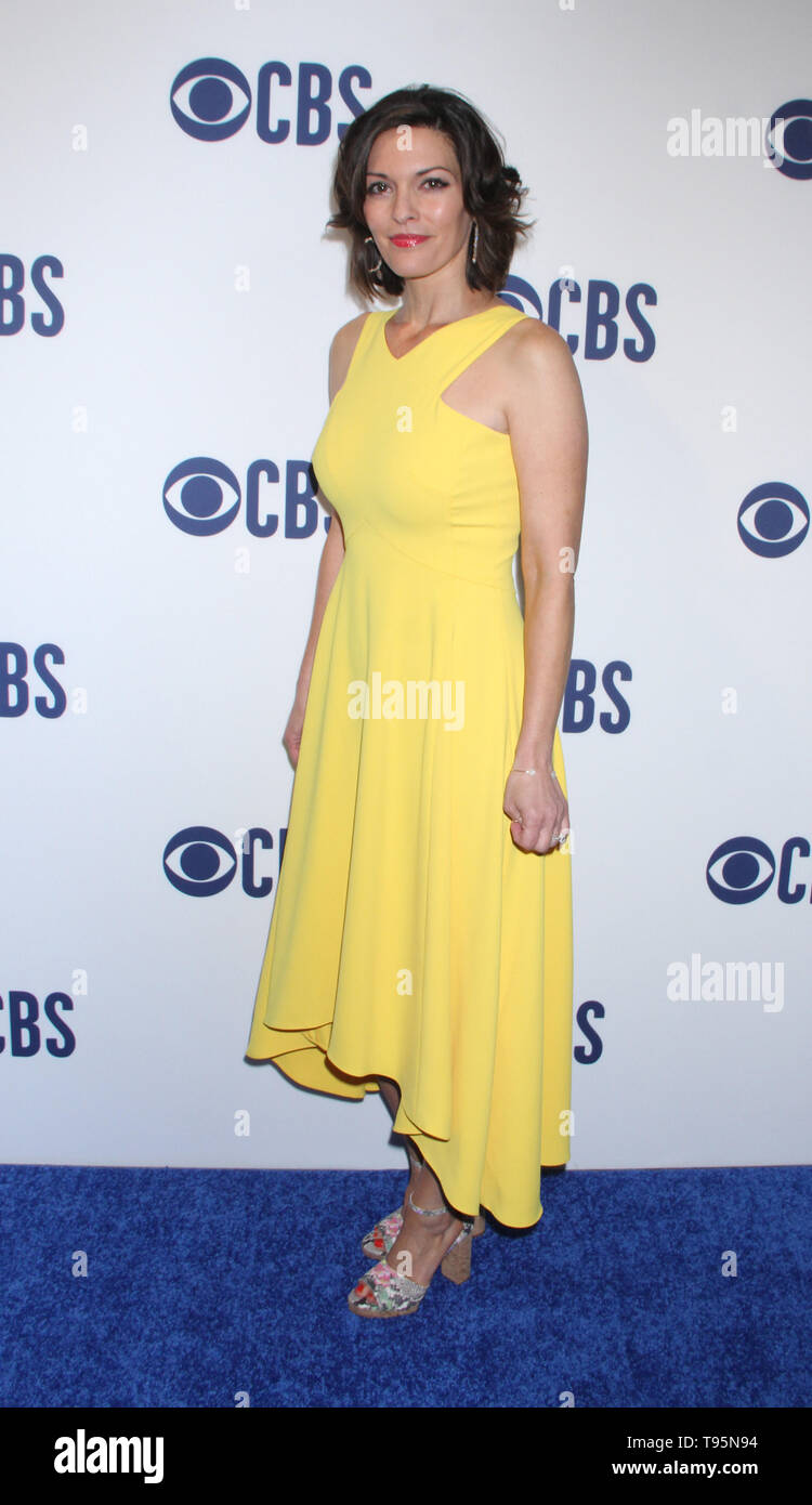 March 15,  2019  Alana De La Garza  attend  2019 CBS Upfront  at the Plaza Todd English Food Hall in New York March 15, 2019  Credit:RW/MediaPunch - Stock Image