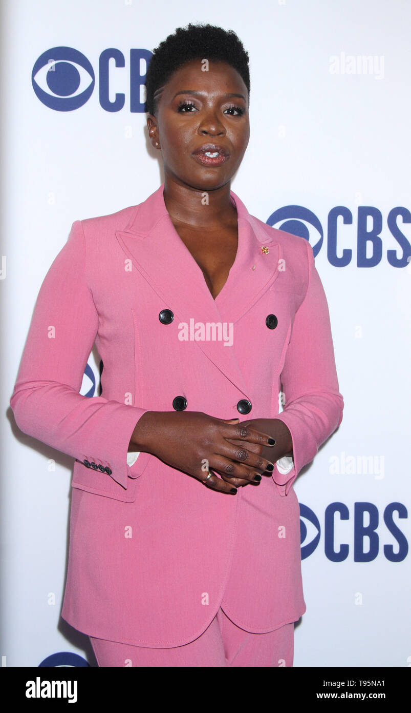 March 15,  2019  Folake Olowofoyeku  attend  2019 CBS Upfront  at the Plaza Todd English Food Hall in New York March 15, 2019  Credit:RW/MediaPunch - Stock Image