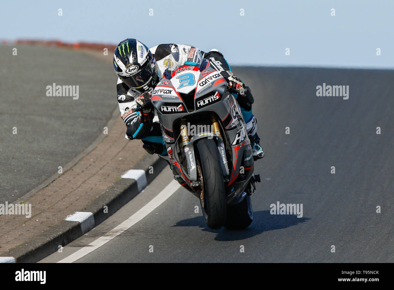 Portrush, Northern Ireland. 16th May, 2019. International North West 200 Motorcycle road racing, Thursday practice and evening racing; Michael Dunlop (MD Racing Honda) in action during the SuperSport race Credit: Action Plus Sports/Alamy Live News - Stock Image