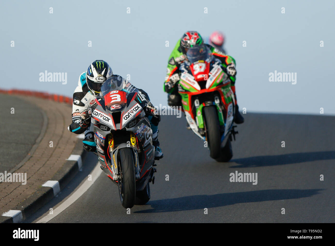 Portrush, Northern Ireland. 16th May, 2019. International North West 200 Motorcycle road racing, Thursday practice and evening racing; Michael Dunlop finishes in 3rd place in the SuperStock race on the MD Racing BMW Credit: Action Plus Sports/Alamy Live News - Stock Image