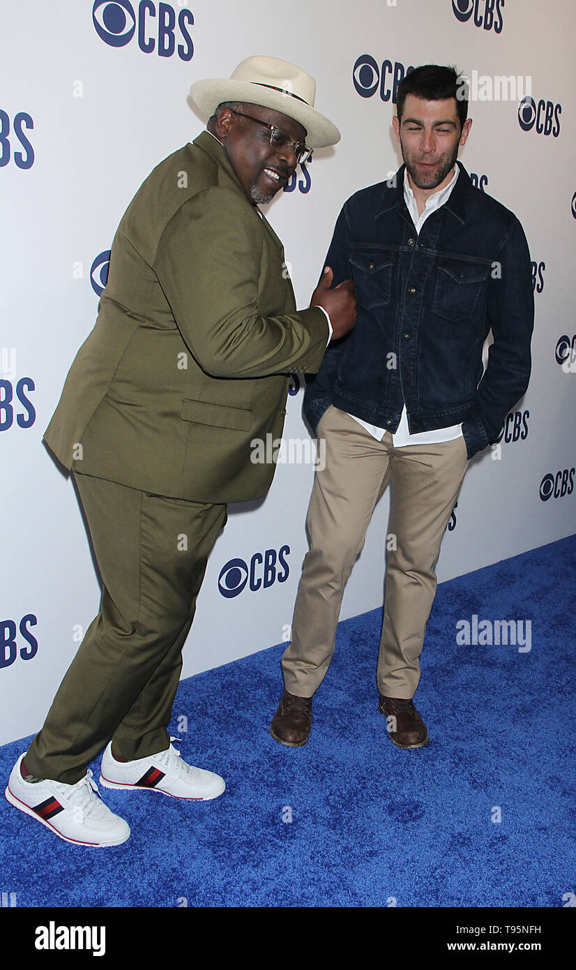 March 15,  2019 Cedric the Entertainer, Max Greenfield  attend  2019 CBS Upfront  at the Plaza Todd English Food Hall in New York March 15, 2019  Credit:RW/MediaPunch - Stock Image