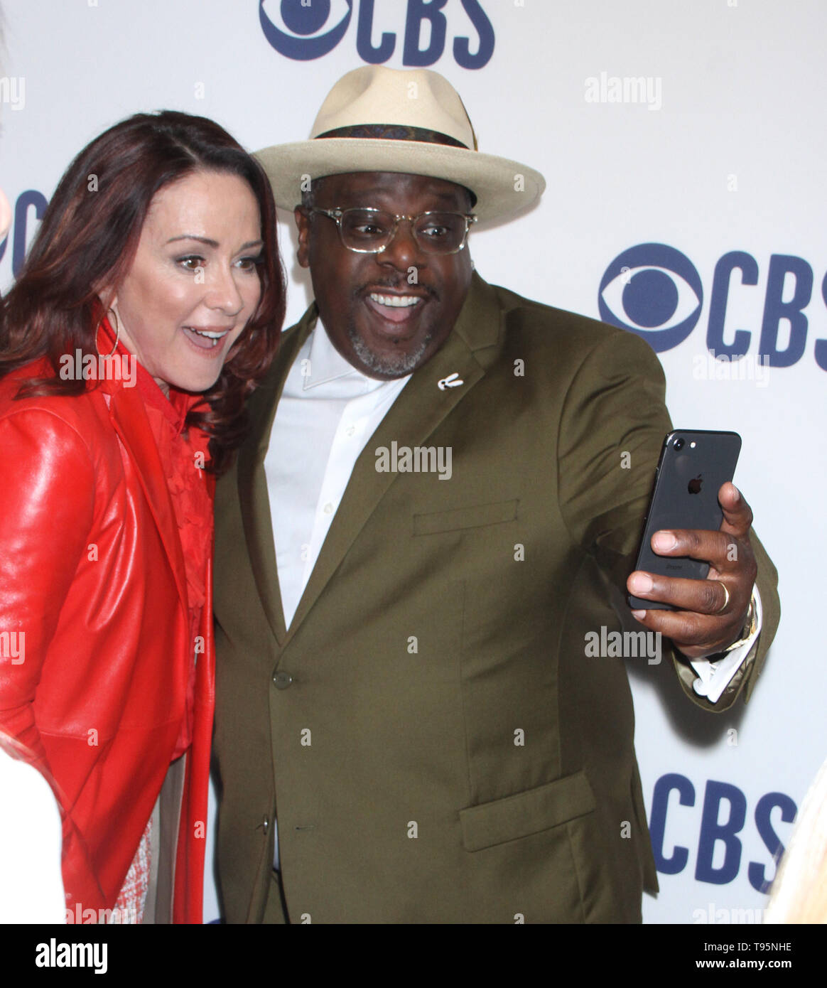 March 15,  2019  Patricia Heaton, Cedric the Entertainer  attend  2019 CBS Upfront  at the Plaza Todd English Food Hall in New York March 15, 2019  Credit:RW/MediaPunch - Stock Image