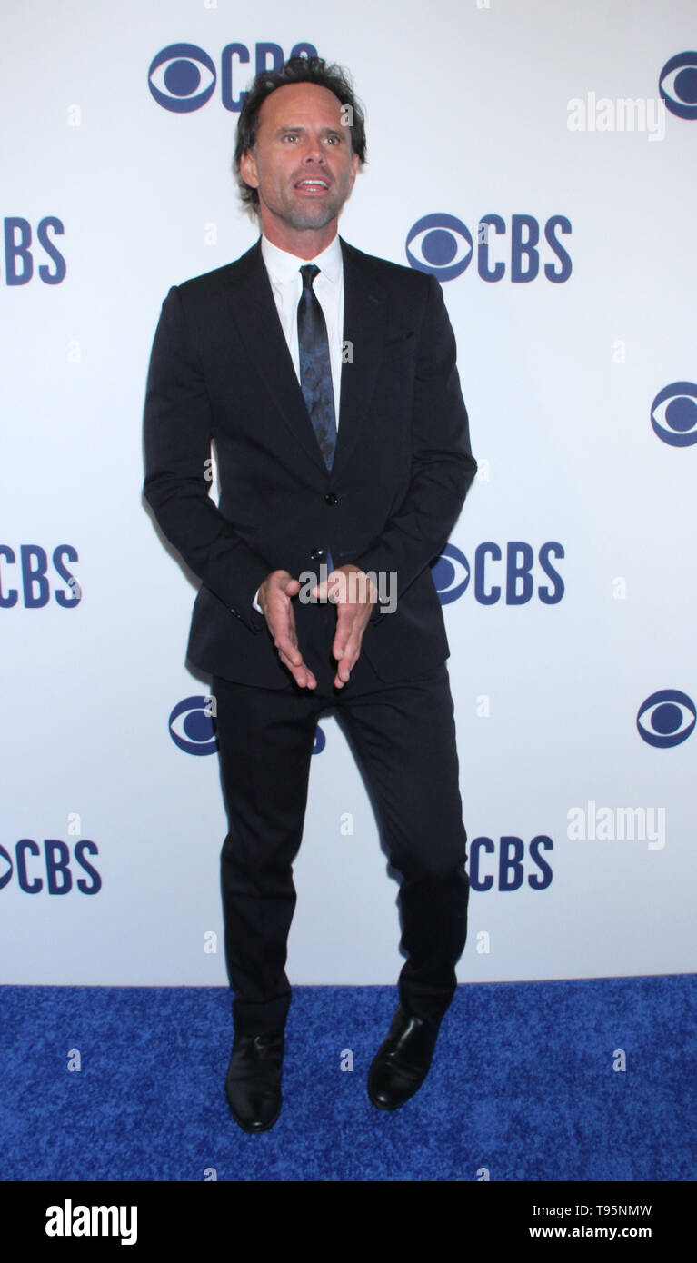 March 15,  2019 Walton Goggins  attend  2019 CBS Upfront  at the Plaza Todd English Food Hall in New York March 15, 2019  Credit:RW/MediaPunch - Stock Image