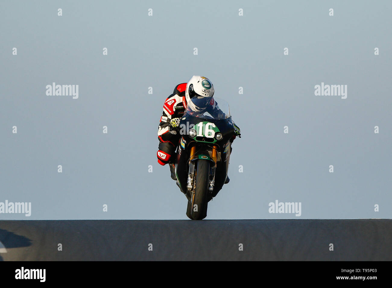 Portrush, Northern Ireland. 16th May, 2019. International North West 200 Motorcycle road racing, Thursday practice and evening racing; Italy's Stefano Bonetti wins the SuperTwin race on the Speed Motor BMW Credit: Action Plus Sports/Alamy Live News - Stock Image