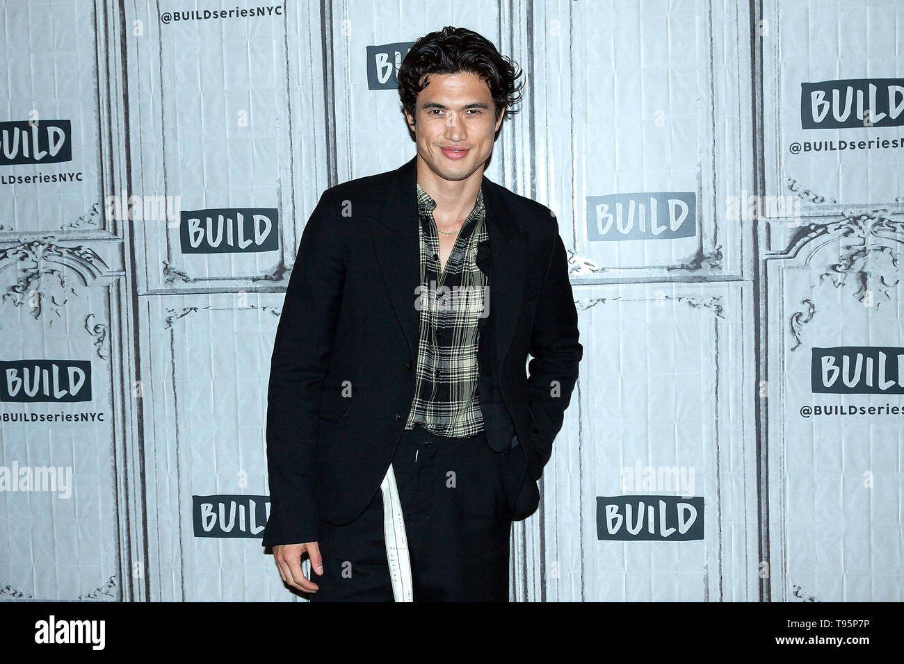 New York, USA. 16 May, 2019. Charles Melton at the BUILD Series with Charles Melton and Yara Shahidi, discussing the new film 'The Sun Is Also a Star' at BUILD Studio. Credit: Steve Mack/Alamy Live News - Stock Image