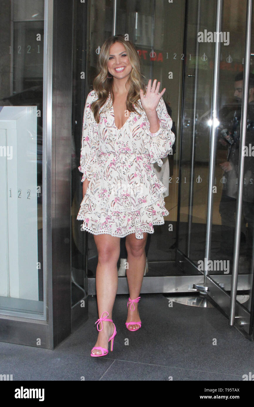 New York, NY, USA. March 16, 2019 Hannah Brown at SiriusXM to talk about the new season of the Bachelorette in New York City Center in New York March 16, 2019 Credit:RW/MediaPunch/Alamy Live News - Stock Image