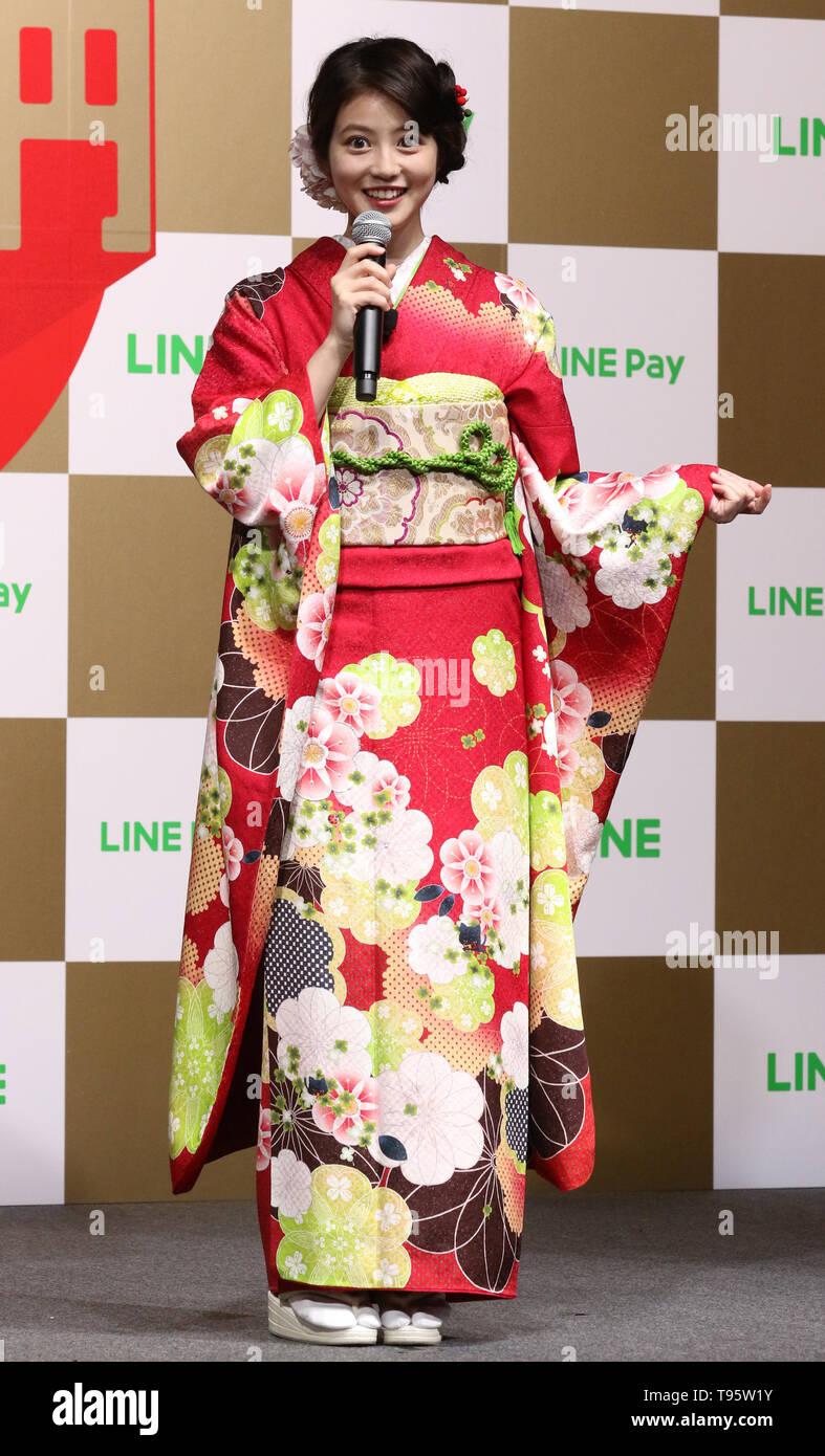 Tokyo, Japan  16th May, 2019  Japanese actress Mio Imada attends a