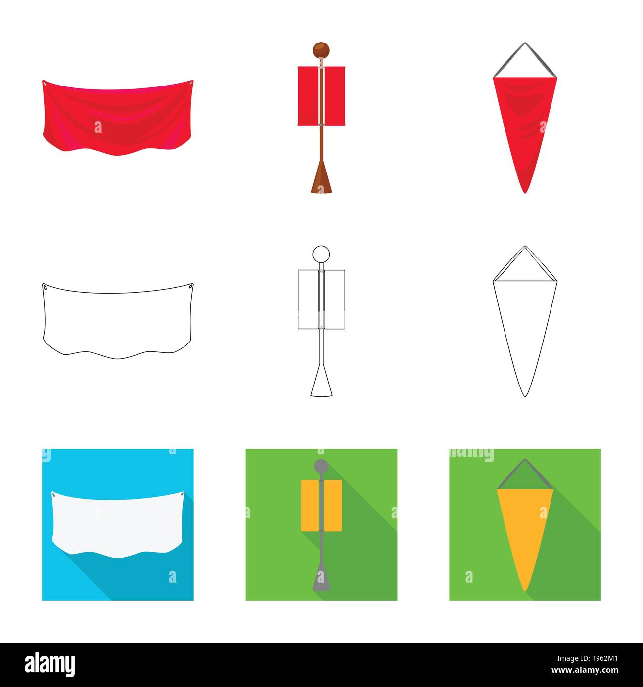 Vector design of texture and presentation icon. Collection of texture and media  vector icon for stock. - Stock Vector