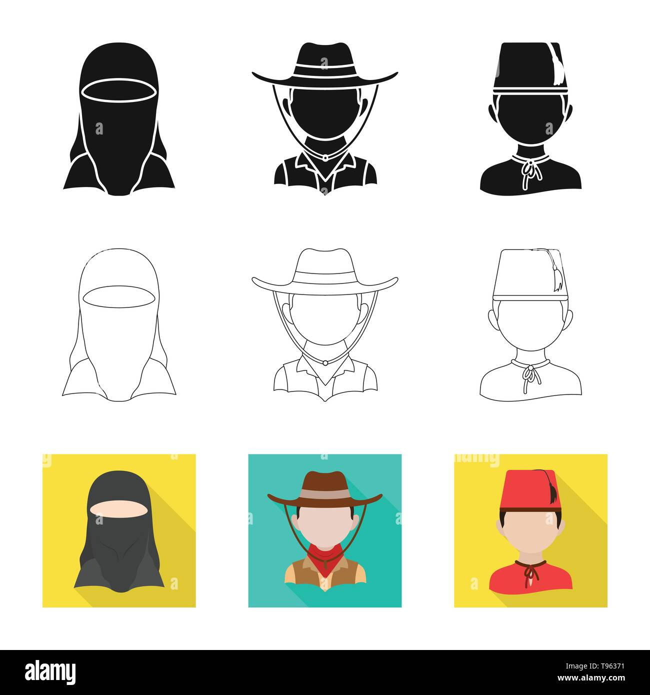 Vector illustration of imitator and resident sign. Set of imitator and culture vector icon for stock. - Stock Image