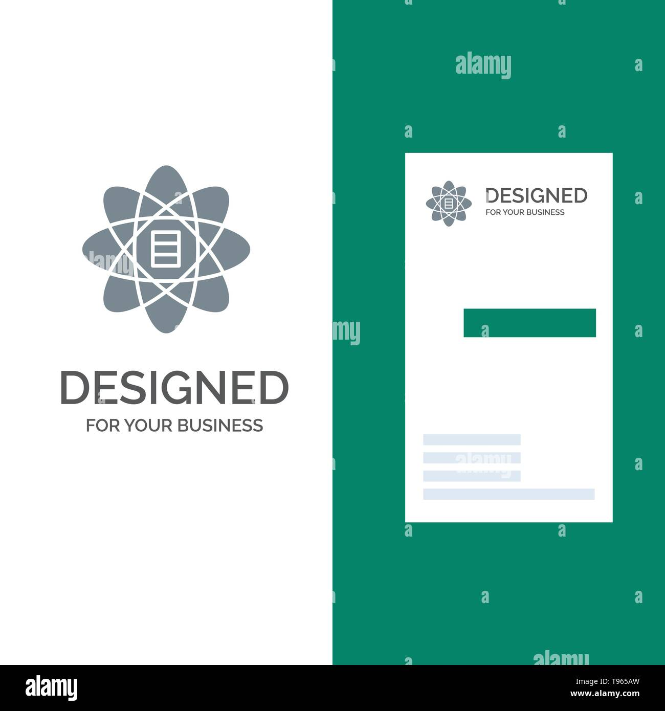 Data, Science, Data Science, Dollar Grey Logo Design and Business Card Template Stock Vector