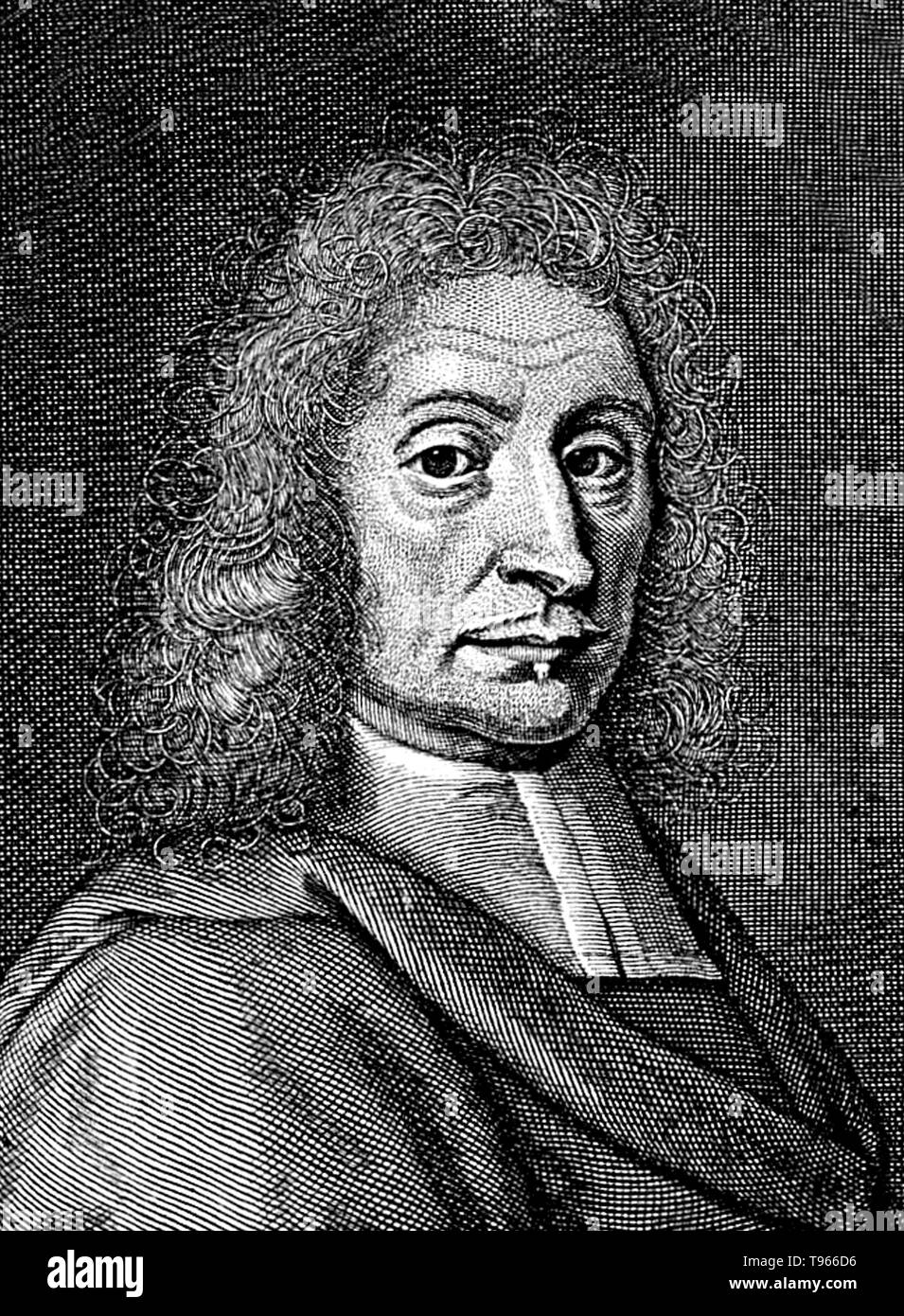 John Ray (November 29, 1627- January 17, 1705) was an English naturalist, sometimes referred to as the father of English natural history. He published important works on botany, zoology, and natural theology. His classification of plants in his Historia Plantarum, was an important step towards modern taxonomy. Ray rejected the system of dichotomous division by which species were classified according to a pre-conceived, either/or type system, and instead classified plants according to similarities and differences that emerged from observation. Thus he advanced scientific empiricism against the  - Stock Image