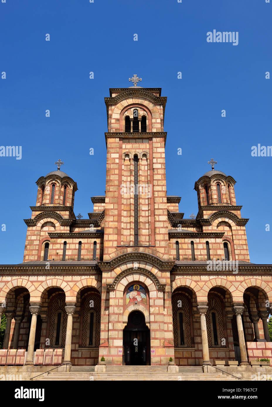 St Marks Church, Belgrade, Serbia - Stock Image