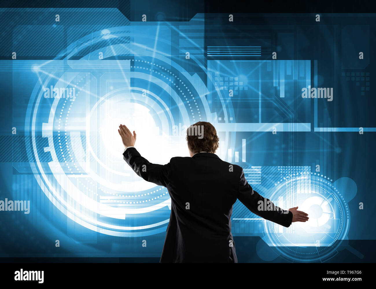 Innovative media technologies - Stock Image
