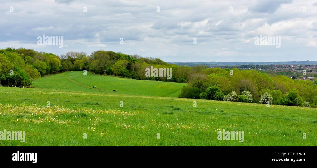 Purdown, Stoke Park Estate Lockleaze, Bristol, popular public park for walking and dog walking. UK - Stock Image