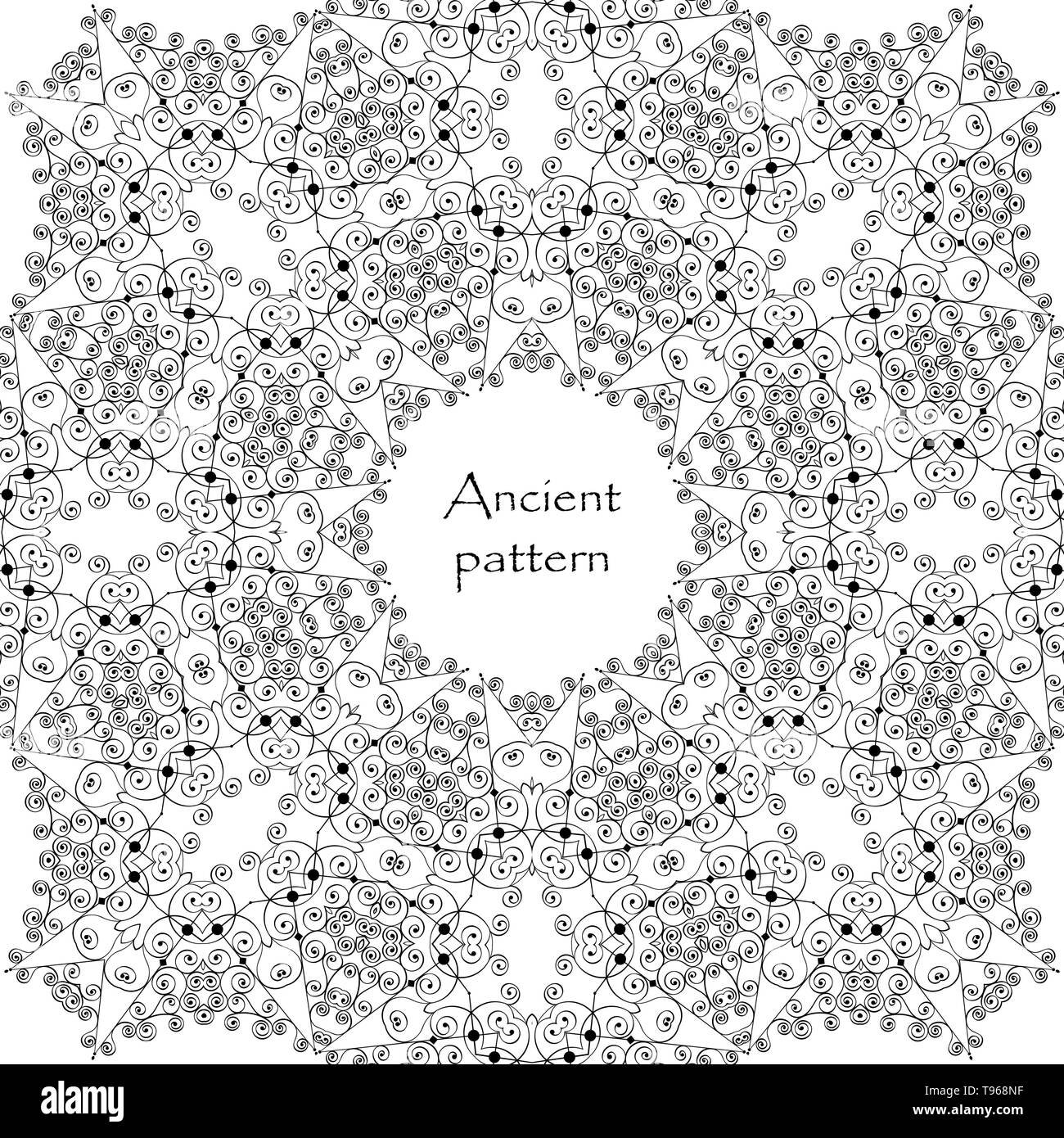 Geometrical abstract vector art deco pattern from gold hand drawn elements. Textile fantasy print. Wrapping paper. - Stock Vector