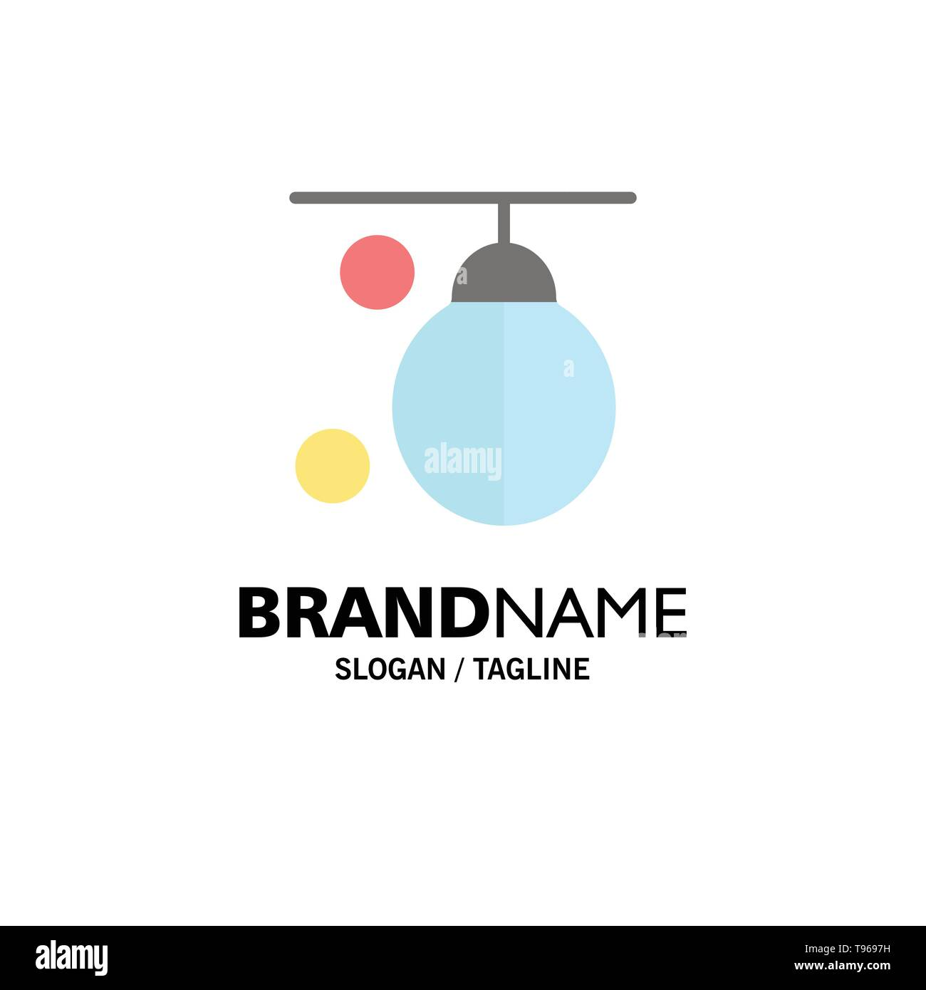 Bag, Boxer, Boxing, Punching, Training Business Logo Template. Flat Color - Stock Image