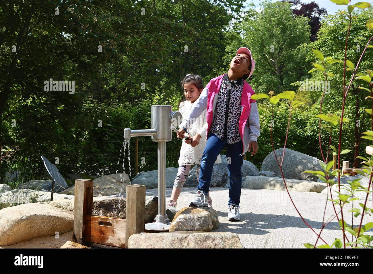 The Children's Garden Kew Royal Garden 16 May 2019 - Stock Image