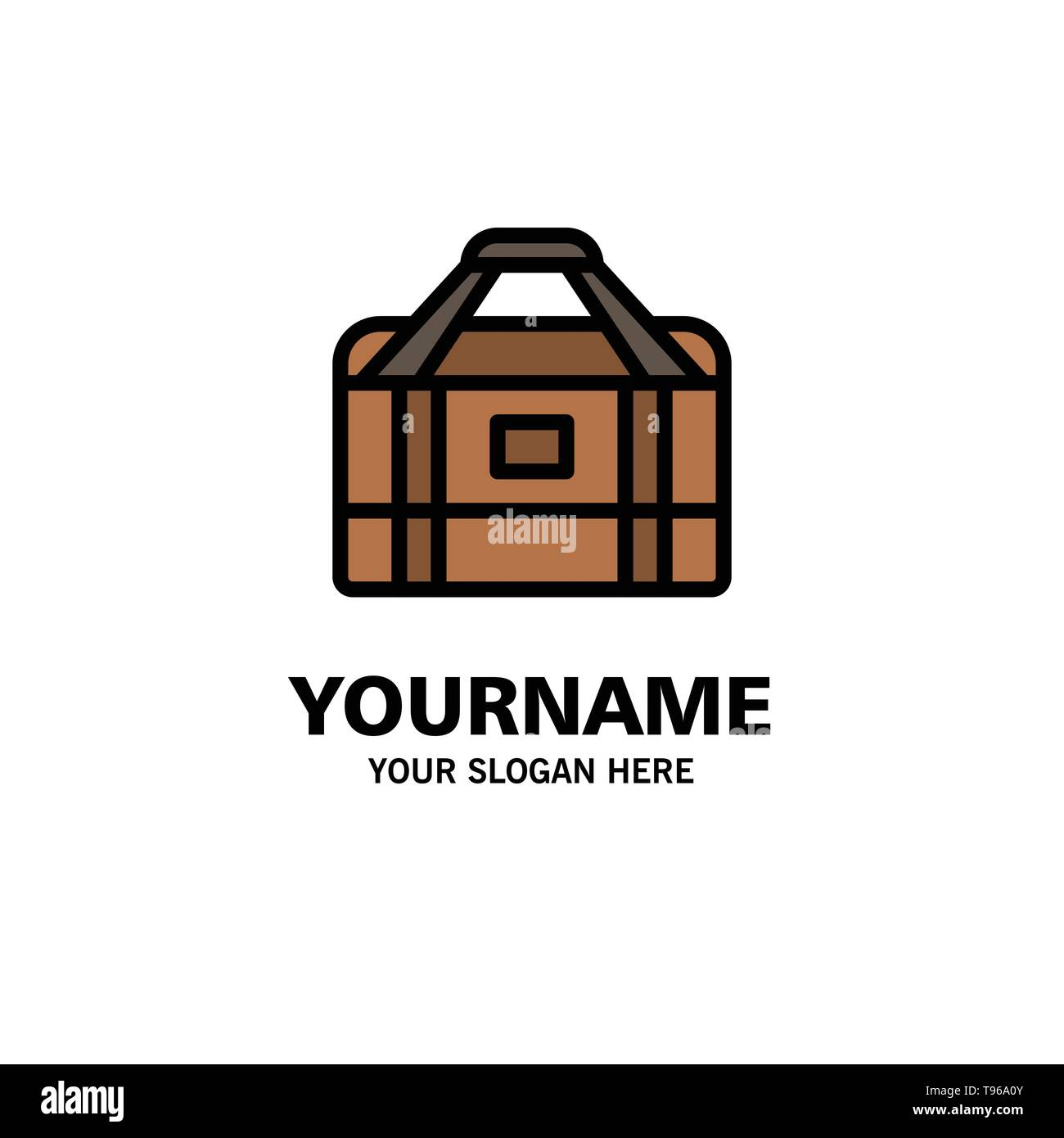 Bag, Equipment, Gym, Sports Business Logo Template. Flat Color - Stock Image