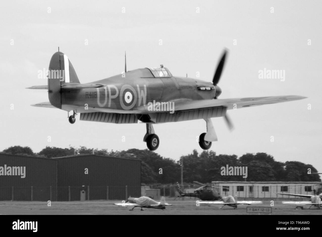 Hawker Hurricane, Battle of Britain fighter aircraft - Stock Image