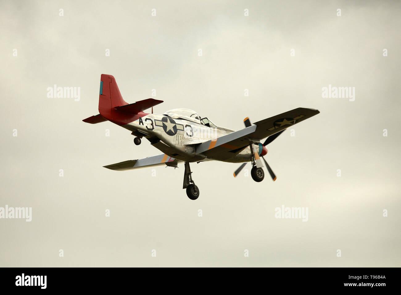 North American P-51 Mustang, Tuskegee Airmen, - Stock Image
