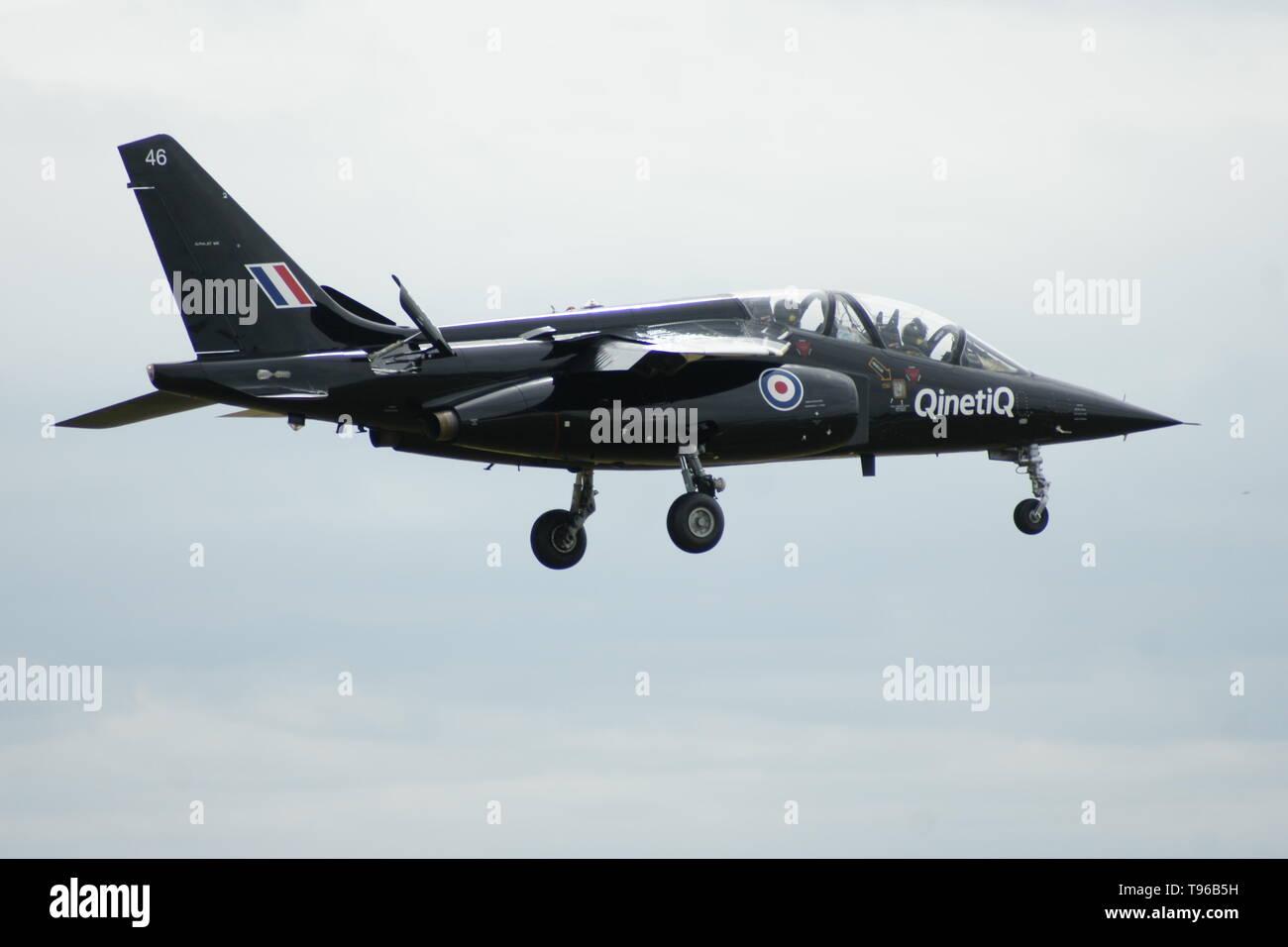 QinetiQ Alpha jet, Boscombe Down airfield - Stock Image