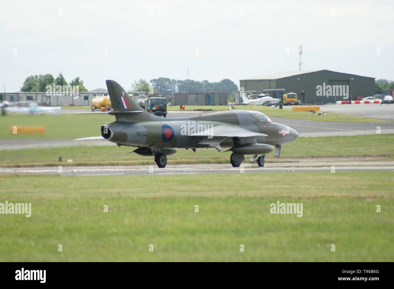 Hawker Hunter, cold war jet fighter - Stock Image