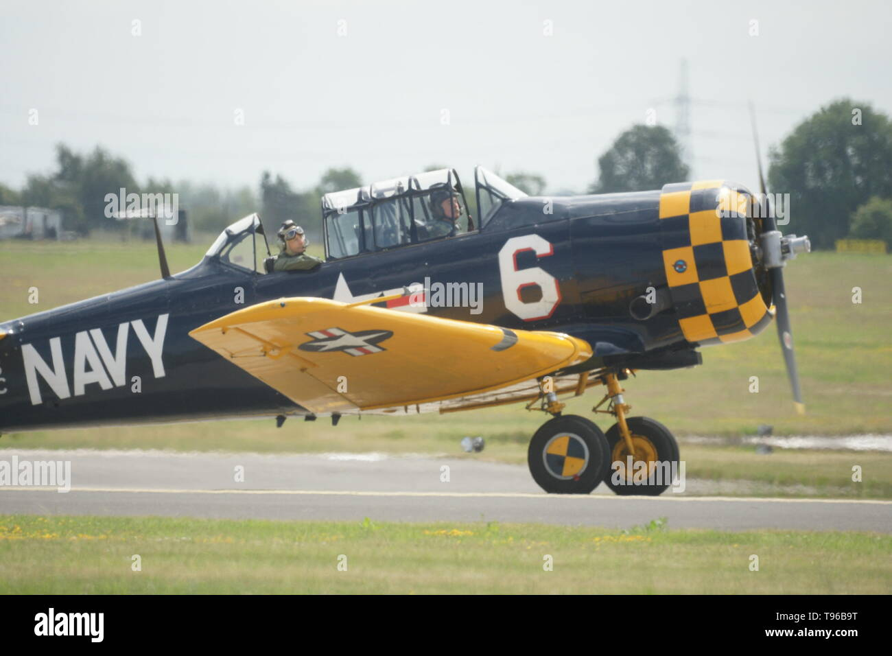 North American Aviation T-6 Harvard single-engined WW2 advanced trainer aircraft - Stock Image