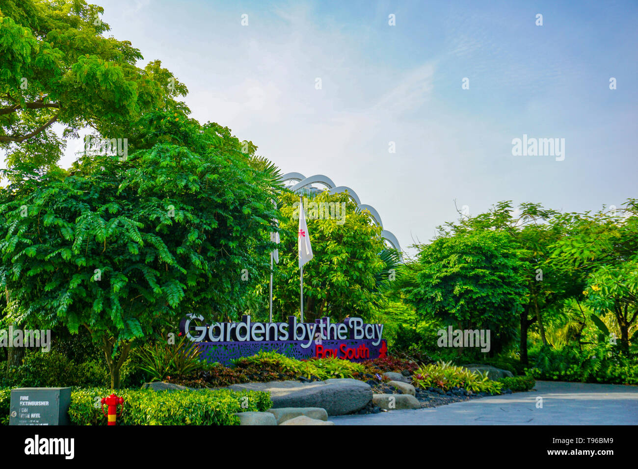 Gardens by the bay at Singapore, 14.08.2018 - Stock Image