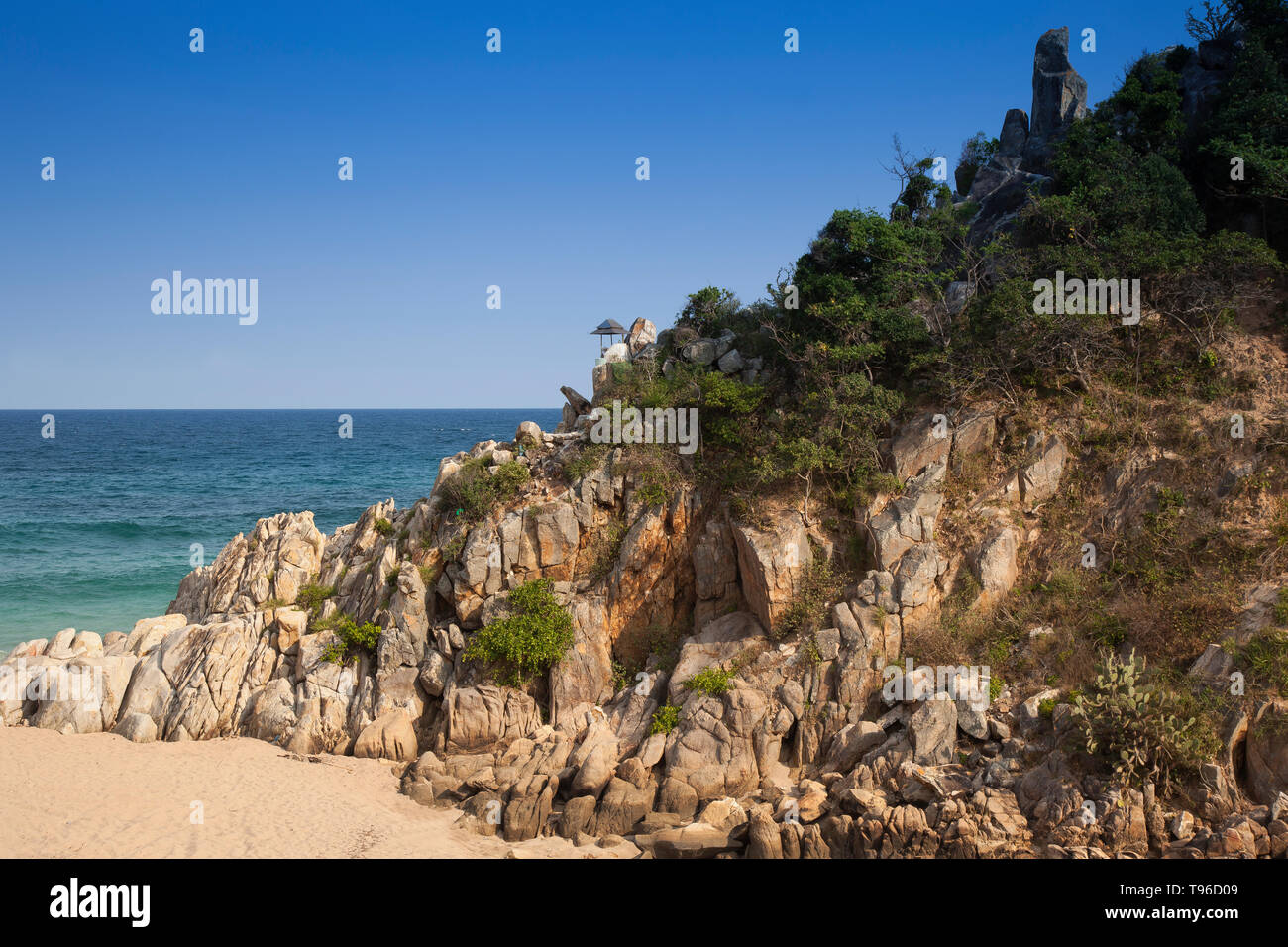 Lonely bay near Vinh Hy, south china sea,Vietnam,asia - Stock Image