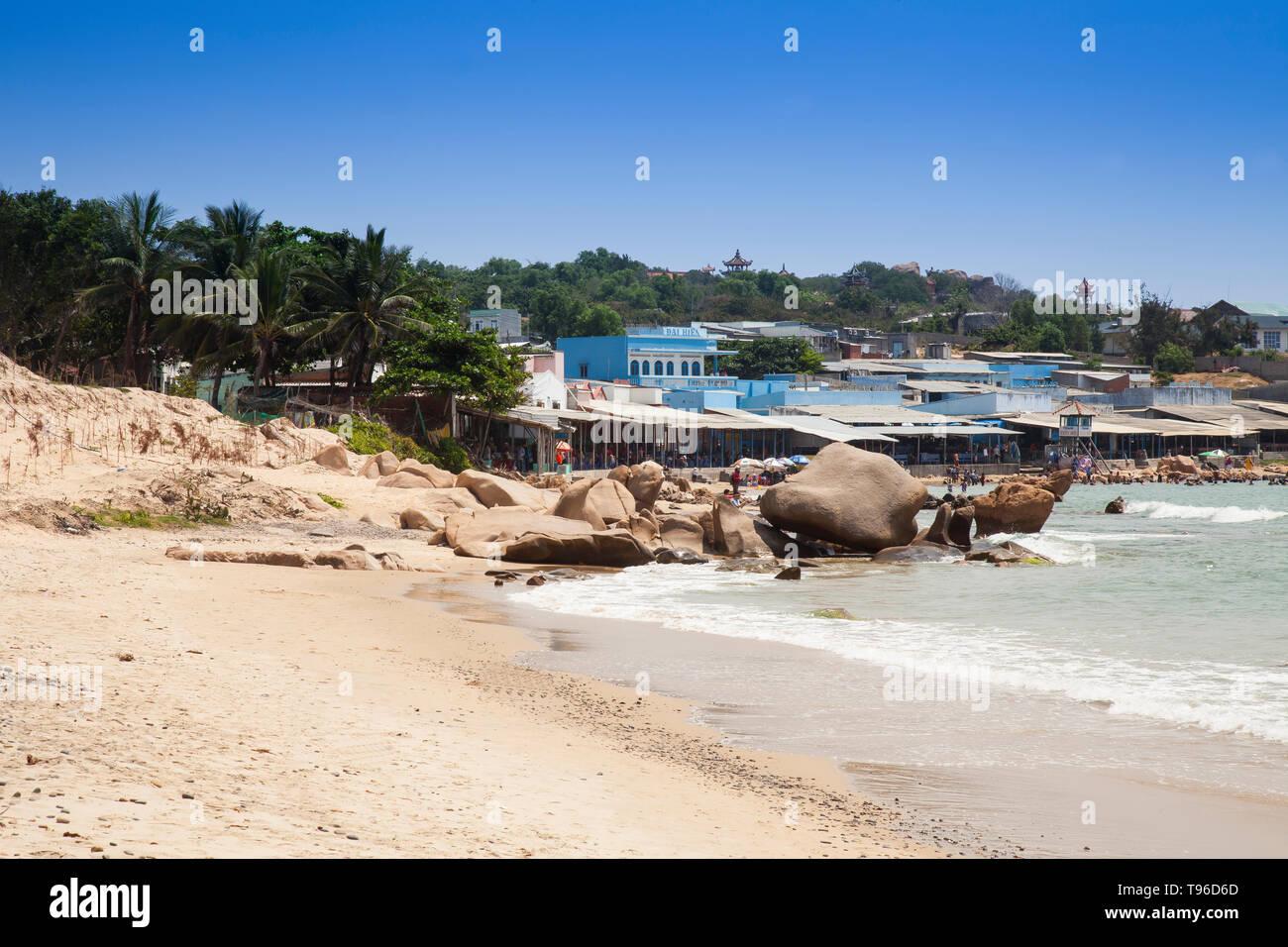 Natural beach near Mui Ne, south china sea,Vietnam,asia - Stock Image